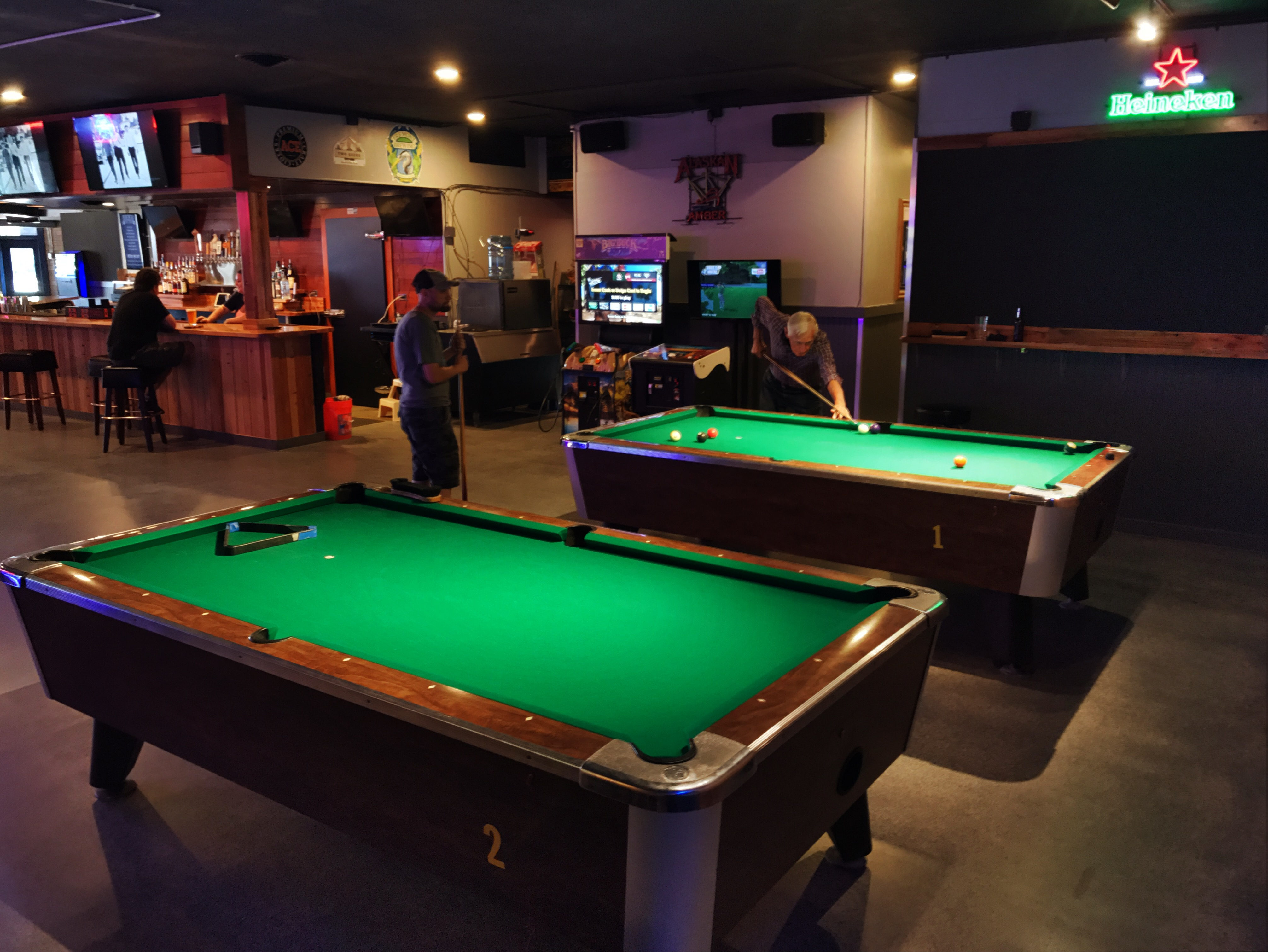Two Pool Tables Are In The North End Of The Bar. Photo By Patrick Robinson