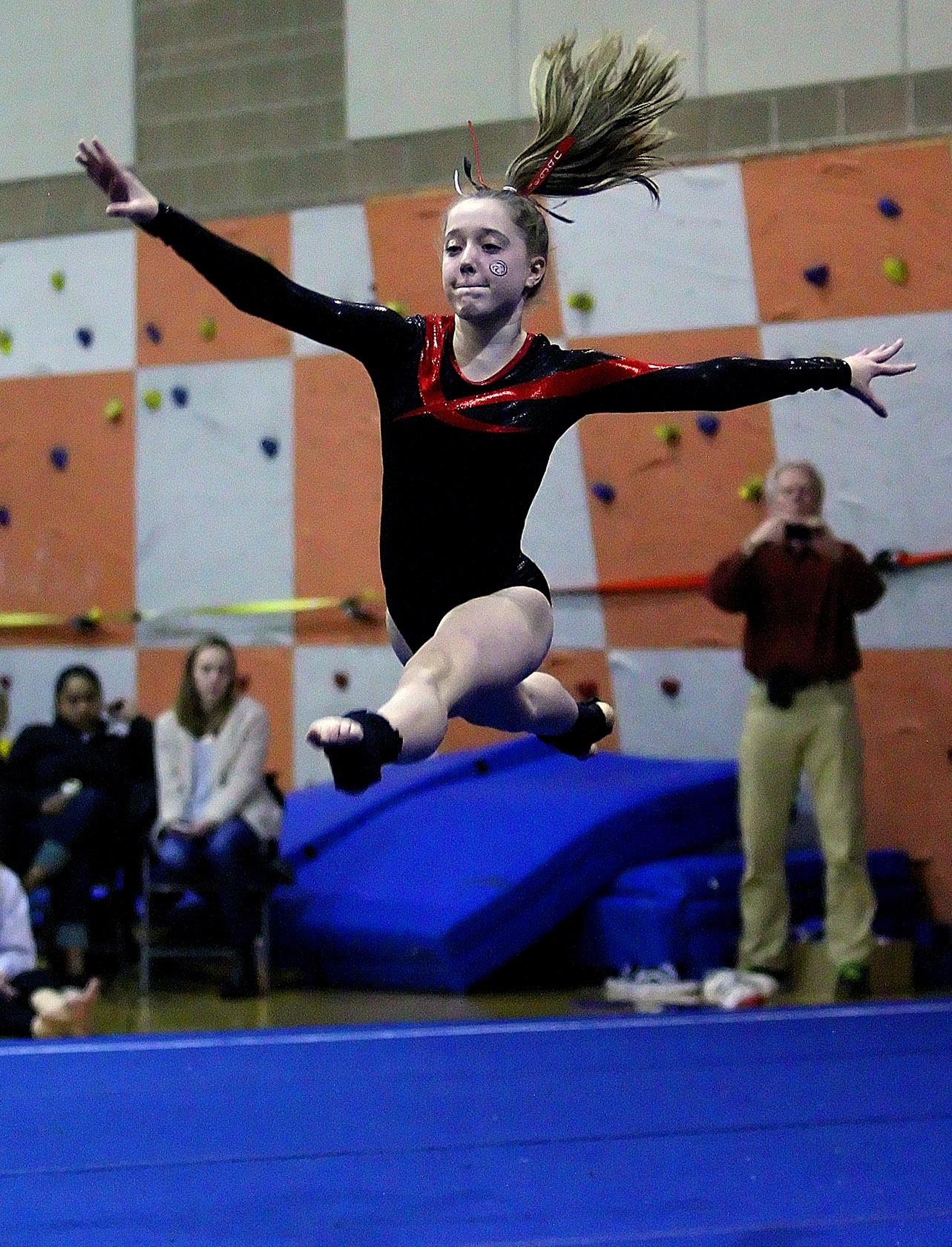 ballard gymnasts outdistance west seattle in triple a meet