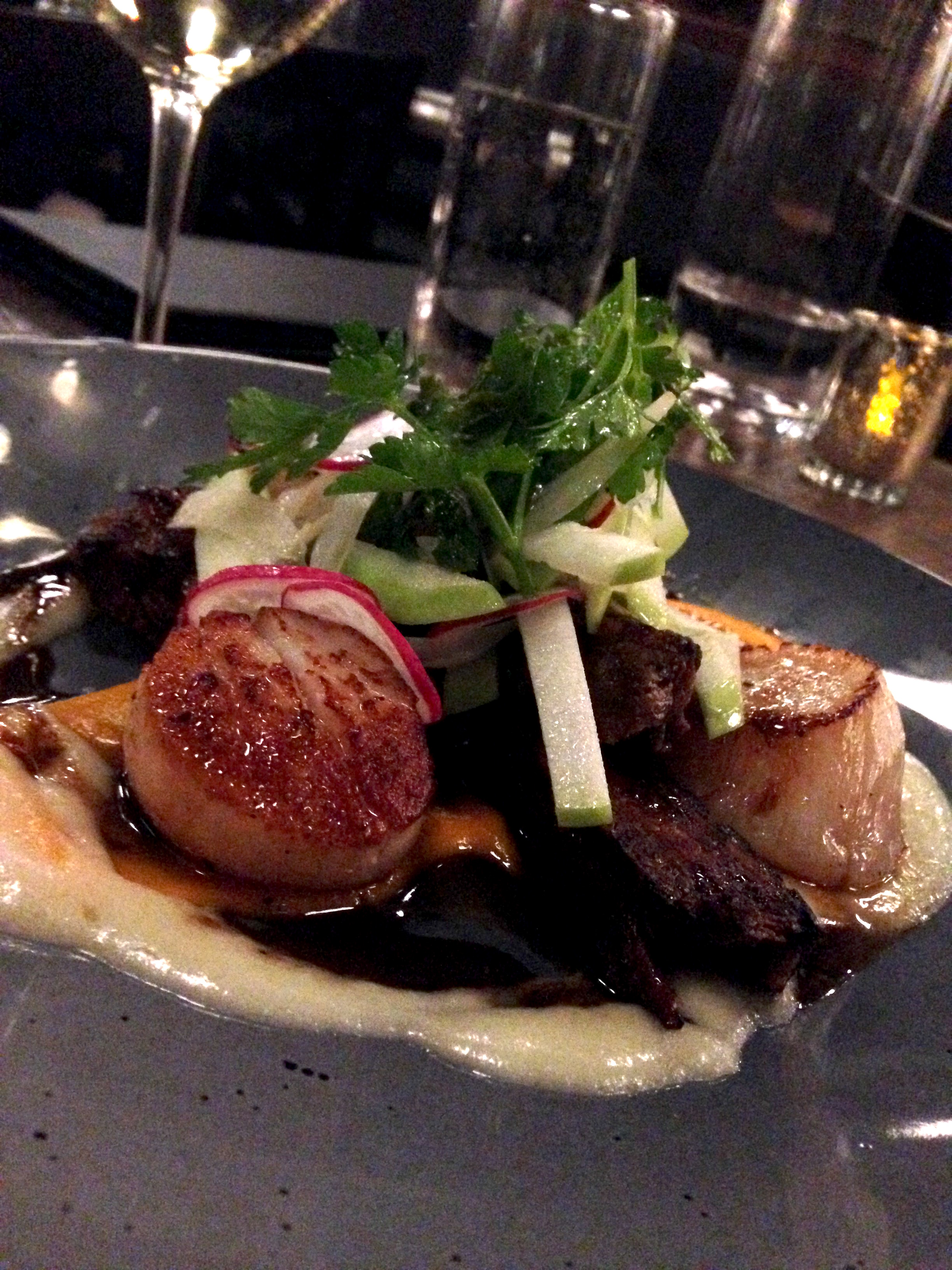 Scallops with pork