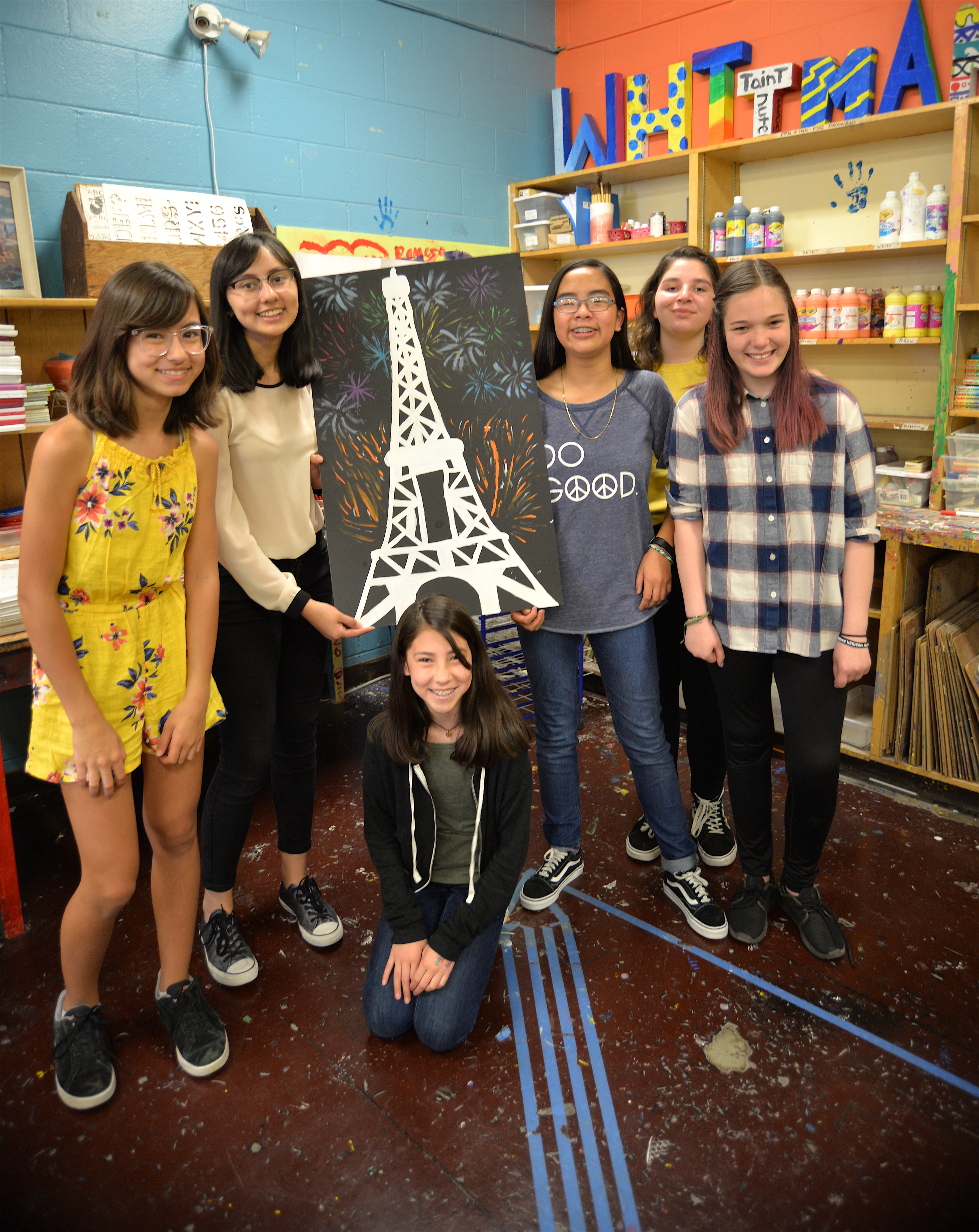 Art club with painting