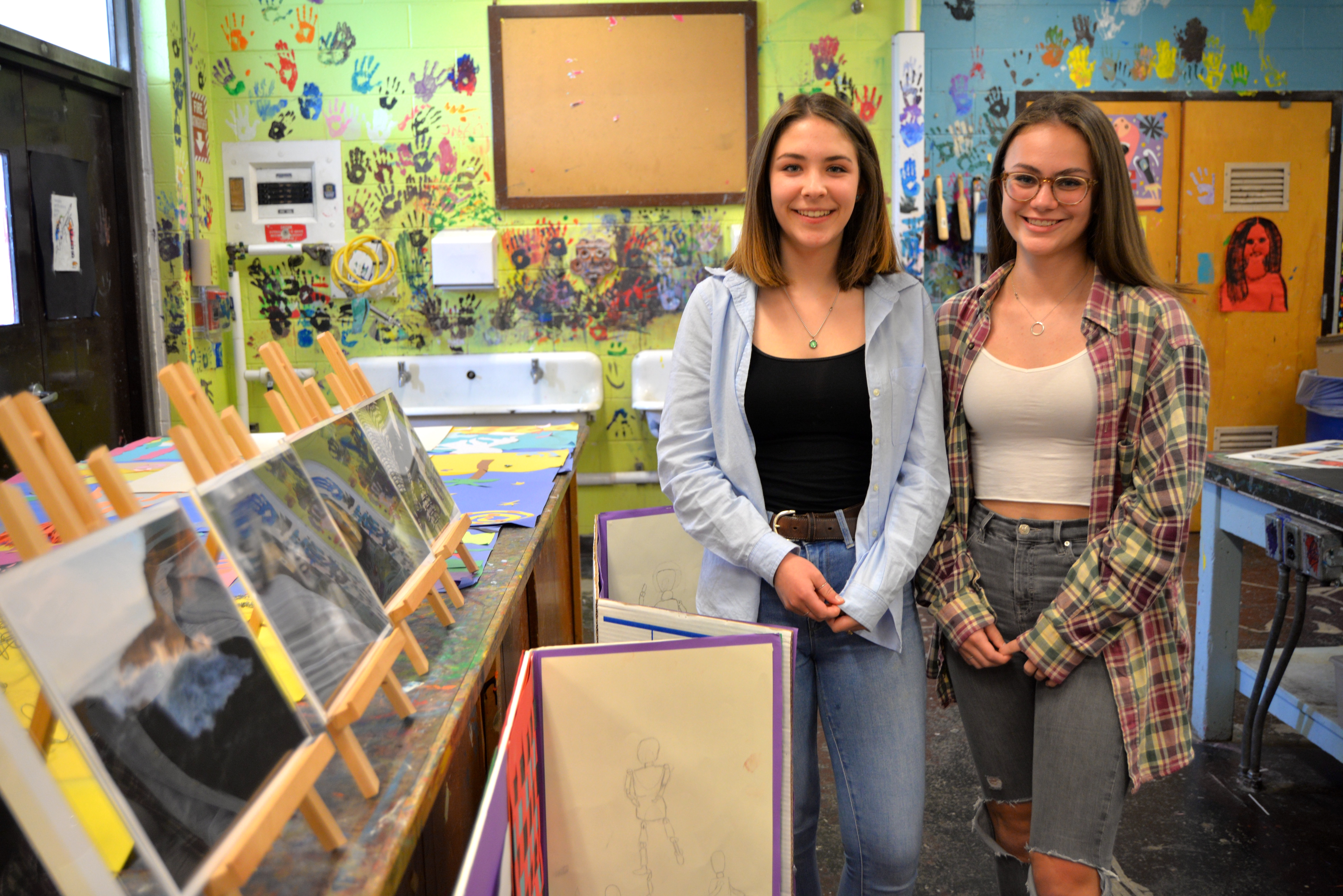 Photographers Sheridan Green, 14, and Dylan Sutherland, 14, are both in 8th grade and plan to continue to pursue the art form in high school.