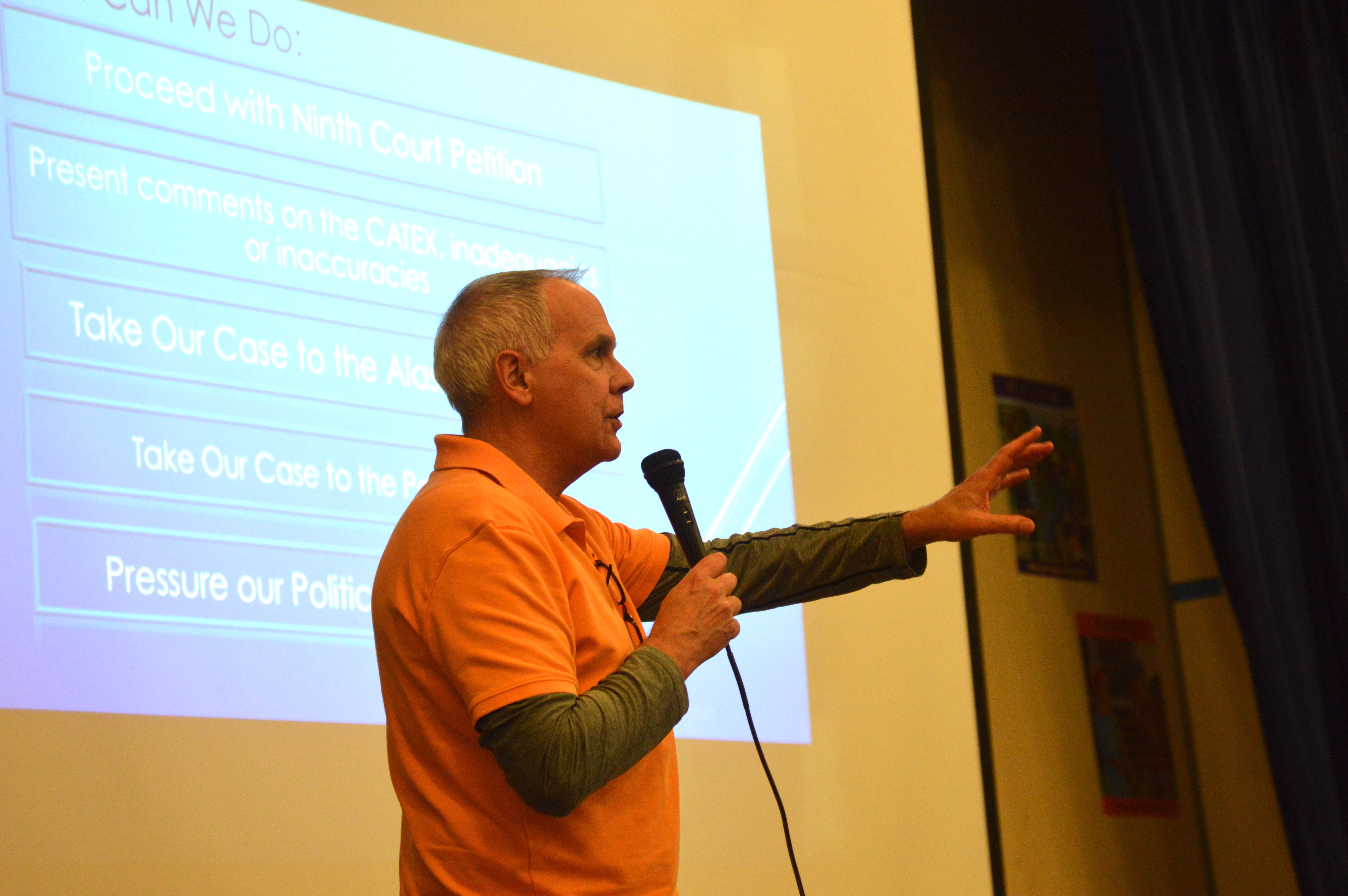 John Parnass, vice-president of Burien's Quiet Skies Coalition the organization, explained that, in February, explained next steps in addressing the Federal Aviation FAA.