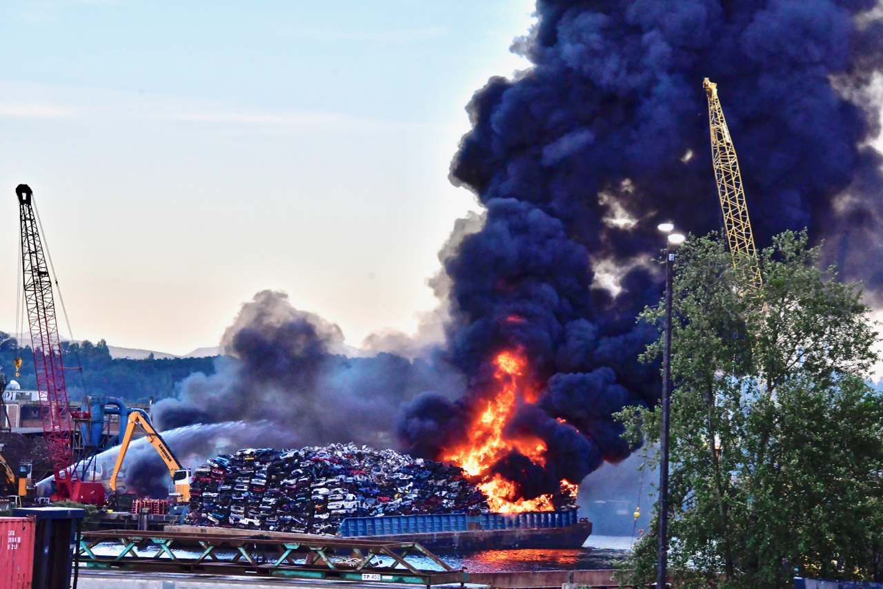 fire on the Duwamish