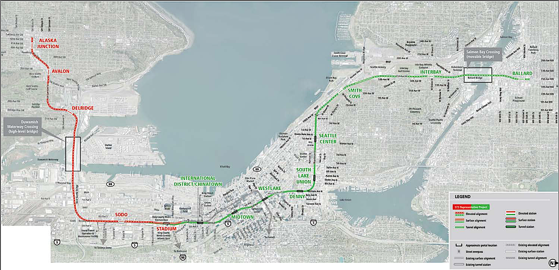 Sound Transit discussion on light rail extensions to West Seattle