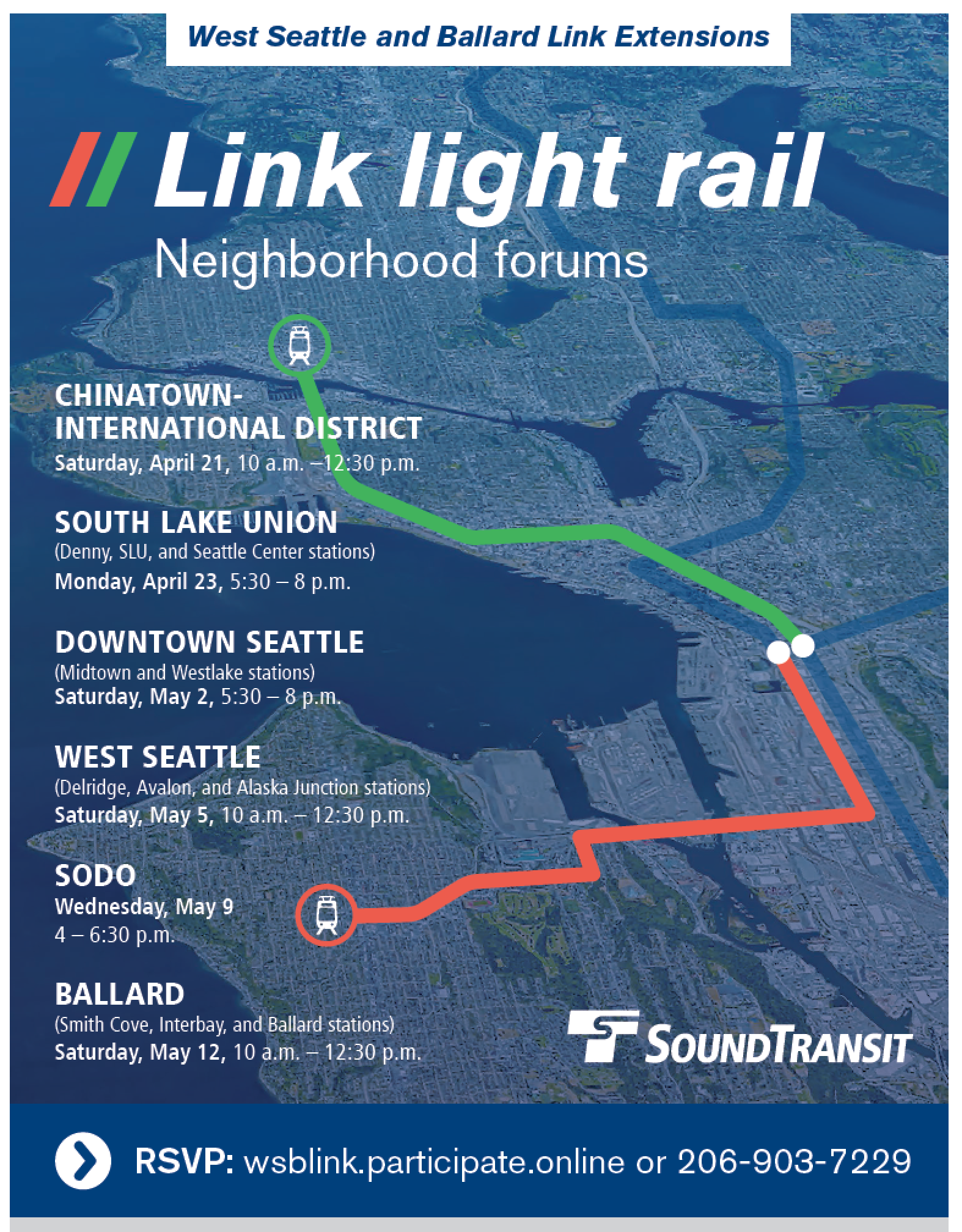 Reminder: Link Light Rail forum is Saturday May 5 | Westside