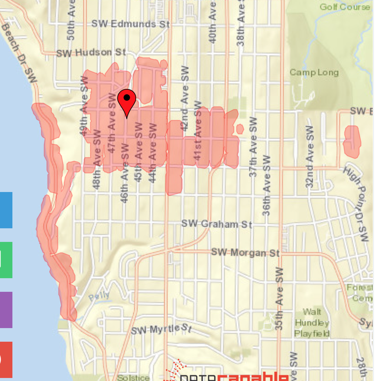 UPDATE: Power outage on Beach Drive SW extends east