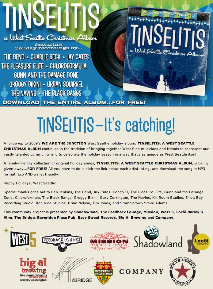 Free West Seattle Christmas album online 'Tinselitis