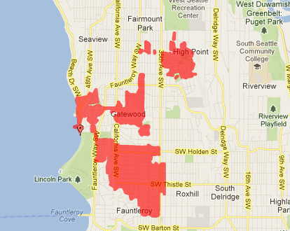UPDATE 3: Power outage affects 3265 West Seattle customers