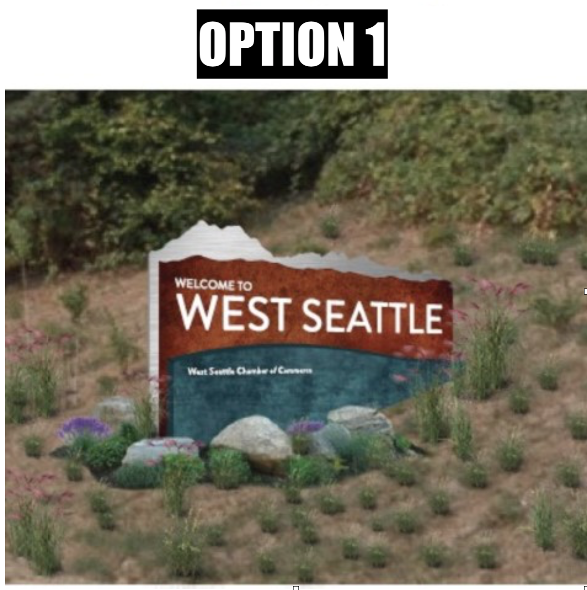New West Seattle Sign Option 1