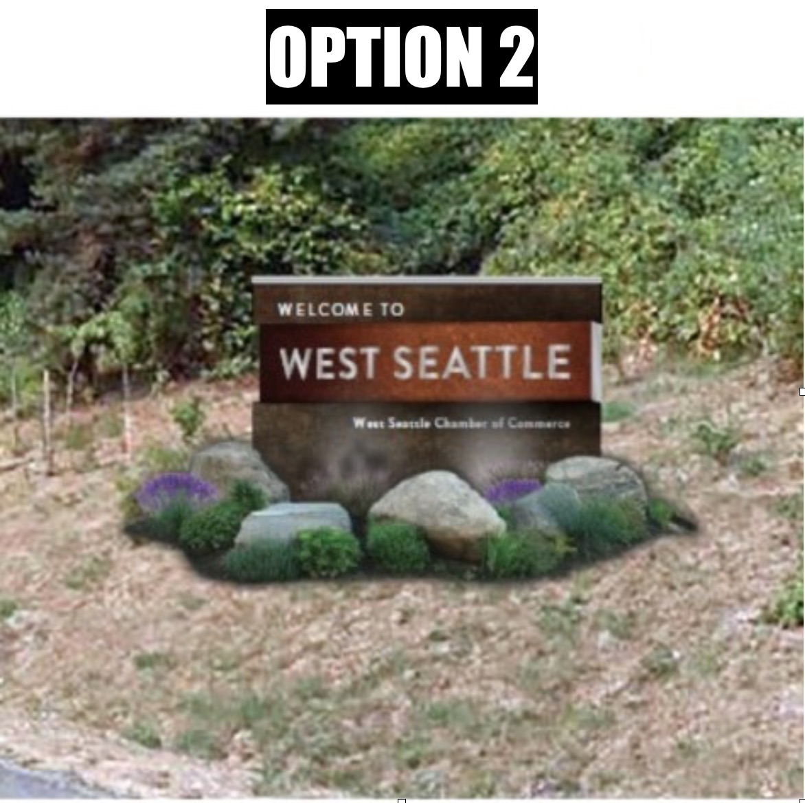 New West Seattle sign Option 2