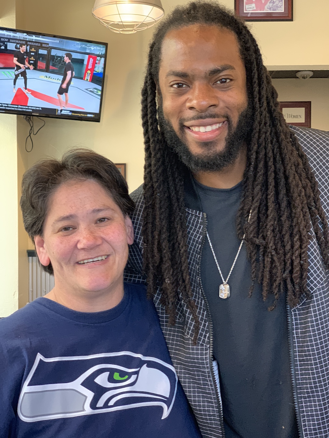 Richard Sherman and Christina Bystrom