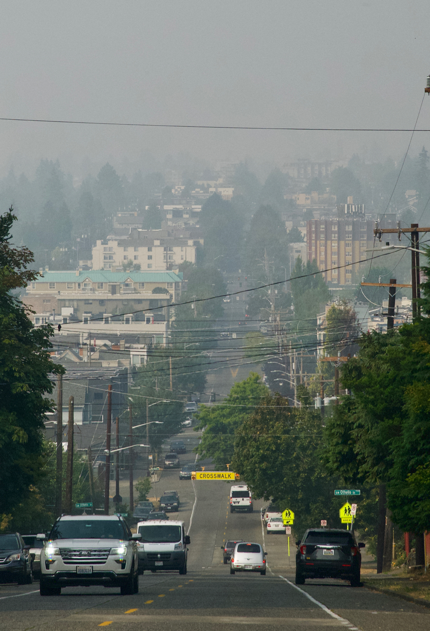 smoky view from Gatewood Hill