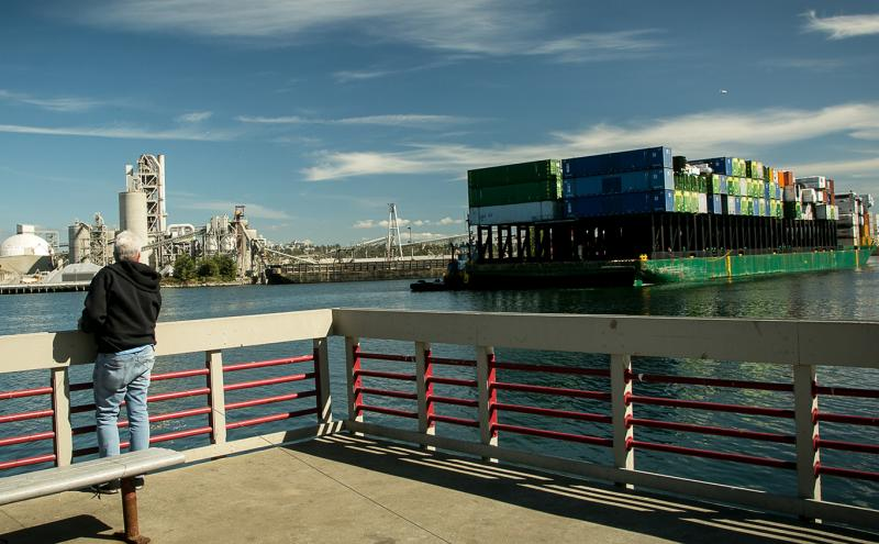 Terminal park on the Duwamish
