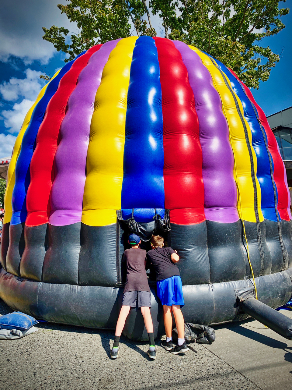 boys and inflatable