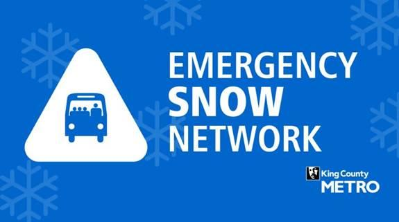 Update King County Metro Continues Emergency Snow Network Into