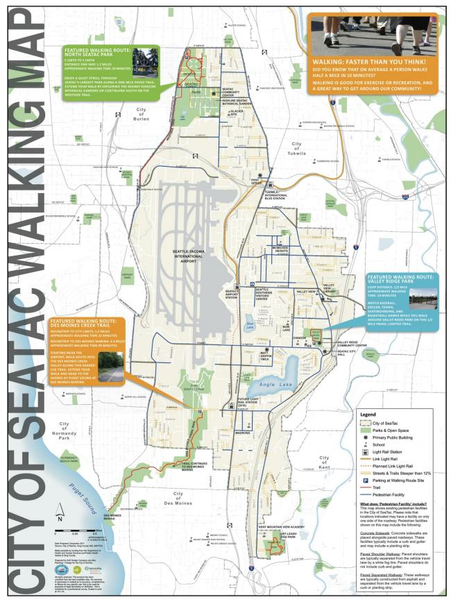 City of SeaTac wants you to take a walk   Westside Seattle Seatac Map on highline school district map, university place map, burien map, seattle map, parkland map, auburn university map, centralia map, kitsap county map, highway 101 washington state map, mount rainier national park map, sea terminal map, omak map, poulsbo map, hobart map, bothell map, olympic national park map, new orleans map, west coast of the united states map, sea airport gate map, la conner map,